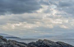 Armadale, Skye Island, Scotland. Sea and clouds, Armadale, Skye Island, Scotland Royalty Free Stock Photo