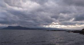 Armadale, Skye Island, Scotland. Sea and clouds, Armadale, Skye Island, Scotland Royalty Free Stock Photos