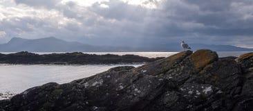 Armadale, Skye Island, Scotland. Sea and clouds, Armadale, Skye Island, Scotland Royalty Free Stock Image