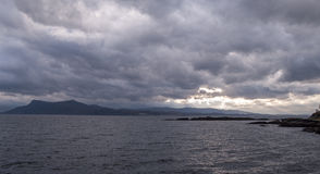 Armadale, Skye Island, Scotland. Sea and clouds, Armadale, Skye Island, Scotland Stock Photography