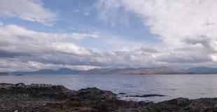 Armadale, Skye Island, Scotland. Sea and clouds, Armadale, Skye Island, Scotland Stock Photo