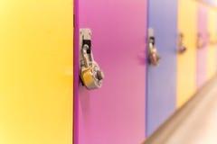 Armadi Colourful della scuola Fotografia Stock Libera da Diritti