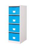 Armadietto blu con i cassetti Fotografia Stock Libera da Diritti