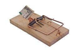 Armadilha atraída dinheiro Foto de Stock Royalty Free