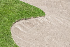 Armadilha de areia do campo de golfe foto de stock