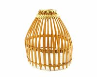 Armadilha de bambu dos peixes Imagem de Stock