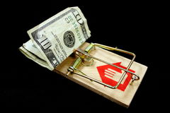 Armadilha do dinheiro Fotos de Stock Royalty Free