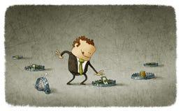 Armadilha do negócio ilustração stock