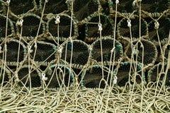 Armadilhas da lagosta Fotografia de Stock Royalty Free