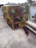 Armadilhas da lagosta do metal Foto de Stock
