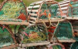 Armadilhas da lagosta na preensão. Foto de Stock Royalty Free