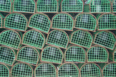 Armadilhas da lagosta usadas por pescadores portugueses Foto de Stock Royalty Free