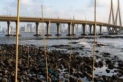 Armadilhas dos peixes em Mumbai fotos de stock royalty free