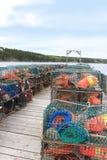 Armadilhas e bóias da lagosta Foto de Stock Royalty Free