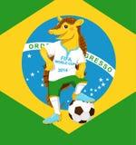 armadillo Mascota del mundial de la FIFA Imagenes de archivo