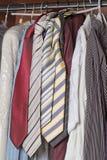 Armadio dei vestiti per gli uomini Immagini Stock Libere da Diritti