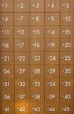 Armadio di legno dei Postboxes. Fotografie Stock Libere da Diritti
