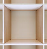 Armadio di legno vuoto Fotografia Stock Libera da Diritti