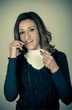 Armado a los dientes Foto de archivo libre de regalías
