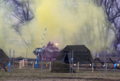 Armado sérvio no combate Foto de Stock Royalty Free