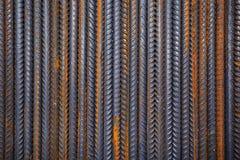 Armadura de acero oxidada del edificio Fotografía de archivo