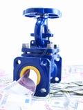 Armadura de la tubería contra el dinero Imagen de archivo libre de regalías