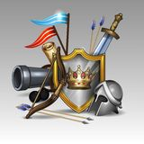 Armadura del caballero Imagen de archivo libre de regalías
