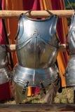 Armadura metálica medieval pendurada Imagem de Stock