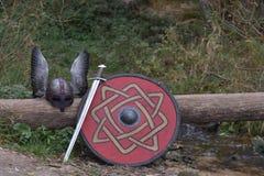 Armadura y armas de Viking fotos de archivo libres de regalías