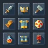 Armadura y equipo Imágenes de archivo libres de regalías