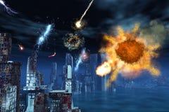 Armageddon à New York illustration libre de droits