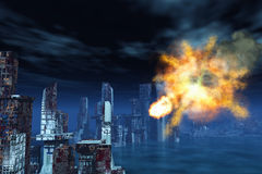 armageddon Νέα Υόρκη απεικόνιση αποθεμάτων
