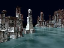 Armageddon στην τρισδιάστατη απόδοση της Νέας Υόρκης Στοκ Εικόνα
