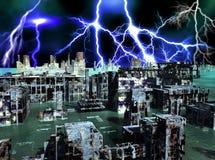 Armageddon στη Νέα Υόρκη διανυσματική απεικόνιση