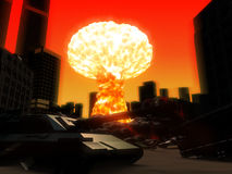 Armageddon. 3d rendered illustration of a atom explosion Royalty Free Stock Photography