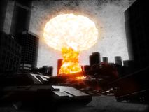 Armageddon. 3d rendered illustration of a atom explosion Stock Photo