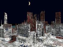 Armageddon en la representación de Nueva York 3d ilustración del vector