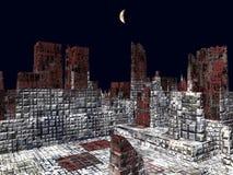 Armageddon en la representación de Nueva York 3d stock de ilustración