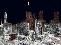 Armageddon in het 3d teruggeven van New York vector illustratie