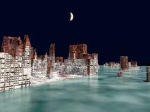 Armageddon in het 3d teruggeven van New York royalty-vrije illustratie