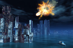 Armageddon in New York. Illustration of the armageddon in New York Royalty Free Stock Photography