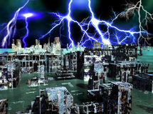 Armageddon in New York. Armageddon in the New York city Stock Photography