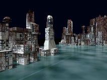 Armageddon in New York 3d rendering Stock Image