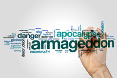Armageddon word cloud Stock Images