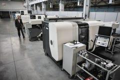Armalit fabryka produkuje statek armaturę dla stoczniowych firm Zdjęcia Royalty Free