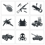 Armament Icon set Royalty Free Stock Photos