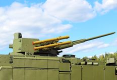 Armament of a new generation infantry fighting vehicle stock images