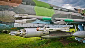 Armament of russian jet plane Stock Photography