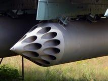 Armamento de los cohetes de los aviones y de los helicópteros foto de archivo