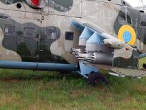 Armamento de los cohetes de los aviones y de los helicópteros imagenes de archivo